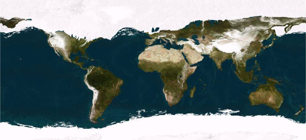 Y cómo se veía el mundo en la última era glacial: