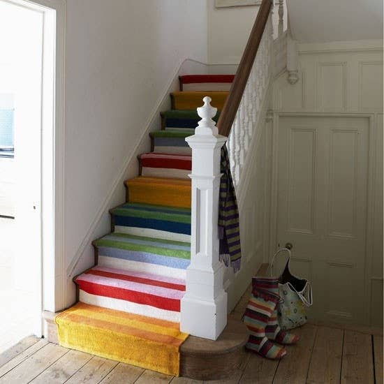 15  Carpet Collage 25 DIY Ways To Update Your Stairs