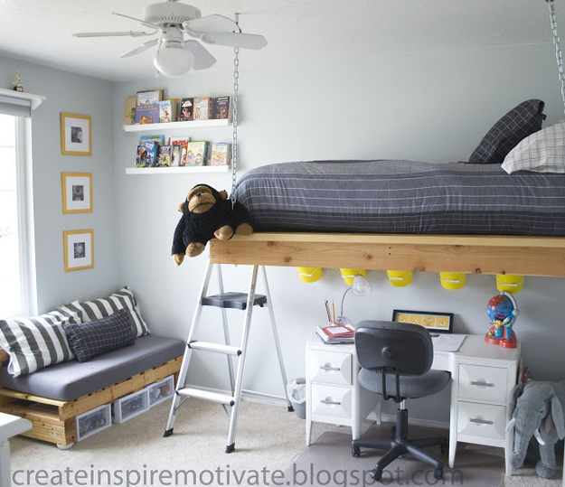 Another Suspended Loft Bed