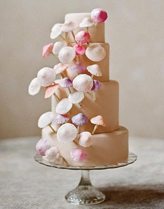 tarta de boda de setas