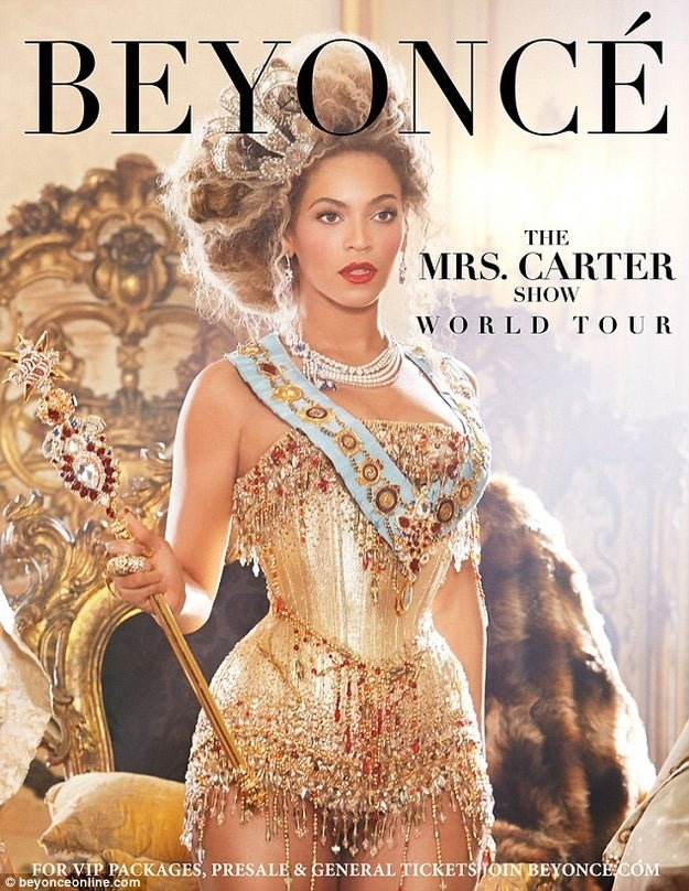Yesterday Beyoncé announced her 2013 world tour in the ad showing her in what could be called steampunk style . Lusciously dressed in a corset and a bustle, is Beyonce putting her own twist on Steampunk fashion?