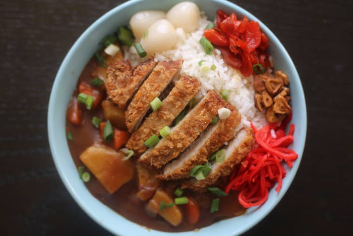 Japanese curry rice that you are about to learn how to make.
