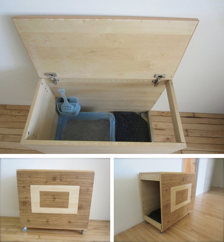 27 useful diy solutions for hiding the litter box