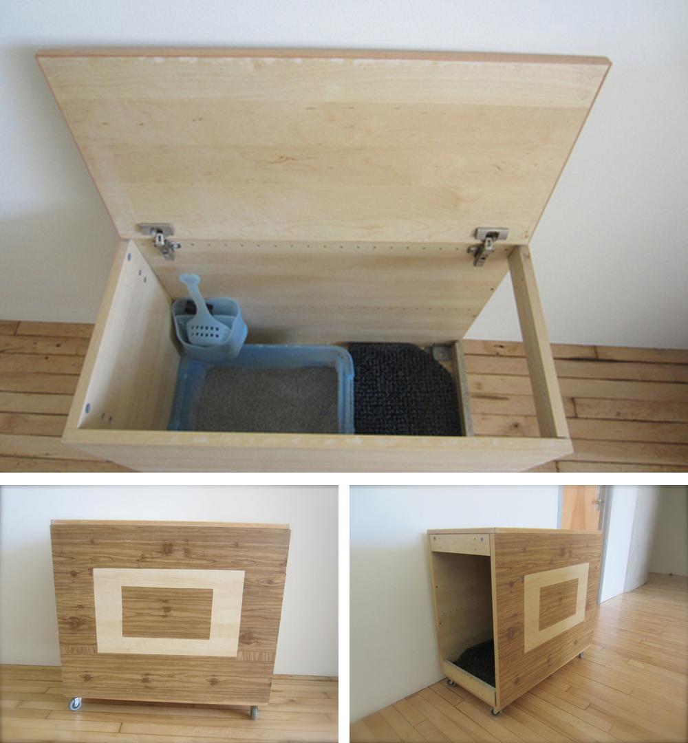 DIY Modern Litter Box Hider