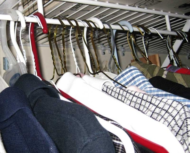 Use the hanger trick to get rid of clothes you don't wear anymore.