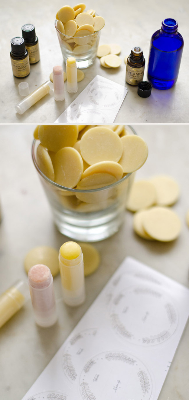 Personalized Lip Balm (for a Winter Wedding)