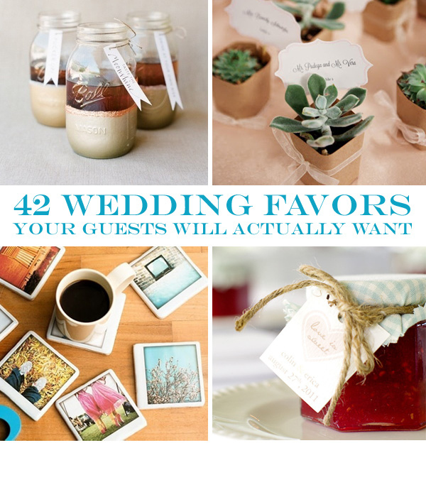 Wedding Gift Ideas From Guests : 42 Wedding Favors Your Guests Will Actually WantGeronimo Oaks ...