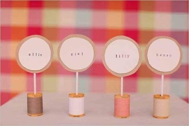 Cute And Clever Ideas For Place Cards - Place cards with meal choice template