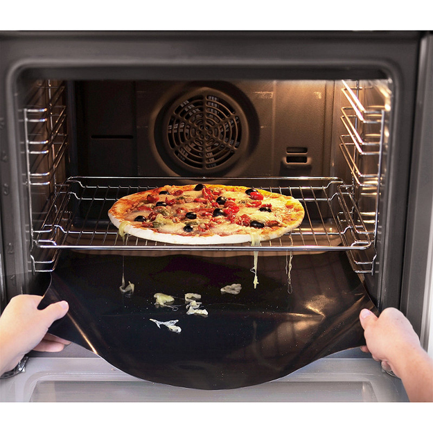 Use a removable oven liner.