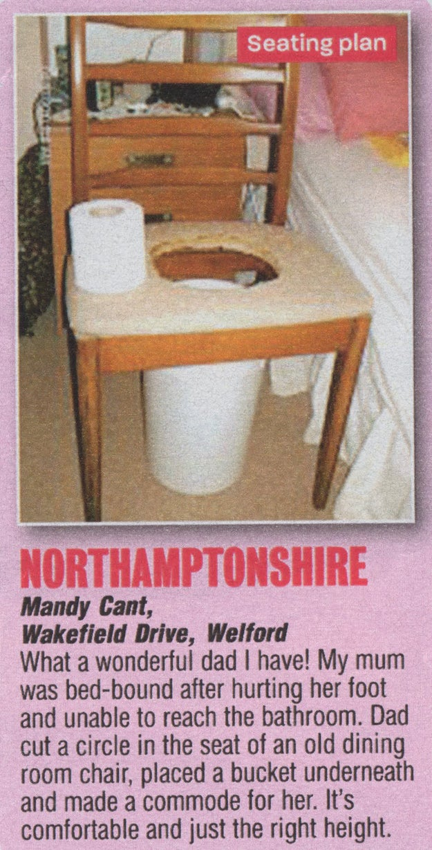 """Nothing says """"I love you"""" like a homemade commode."""