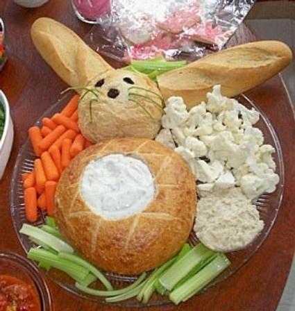 Turn a crudité tray into a bunny.