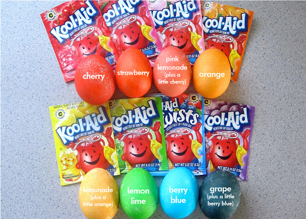 Dye your eggs with Kool-Aid.