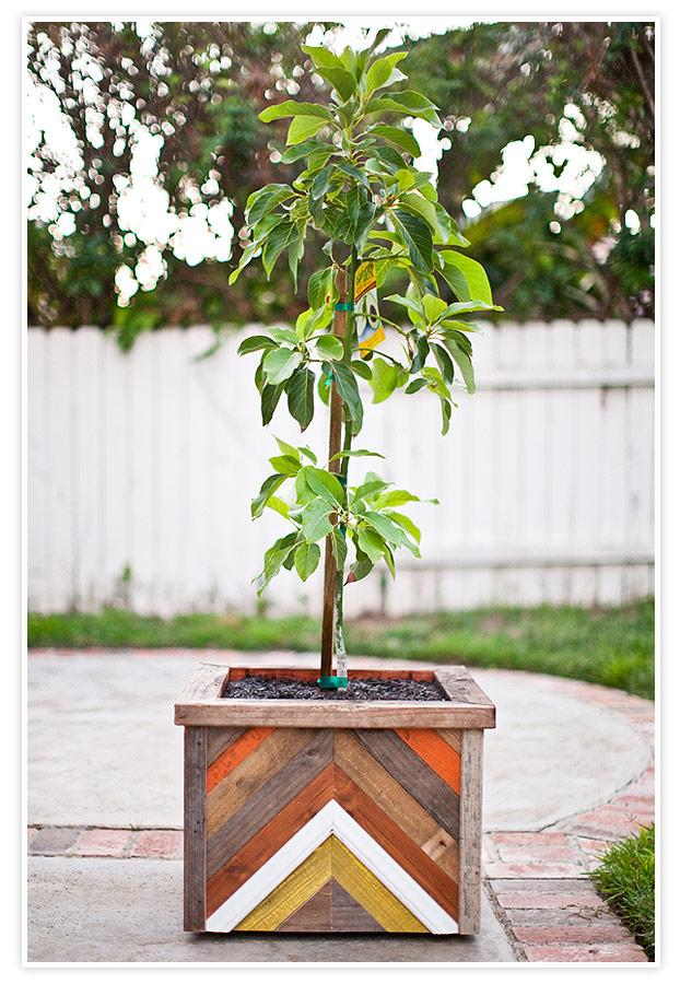 Chevron Planter Box