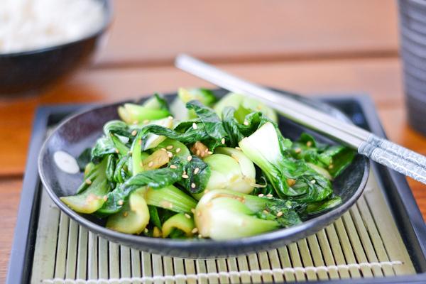 Stir-Fried Sesame Bok Choy