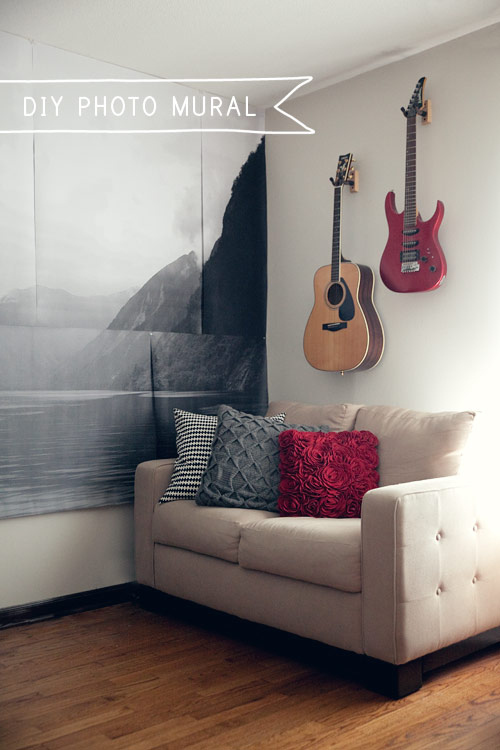 Make your own giant photo mural.