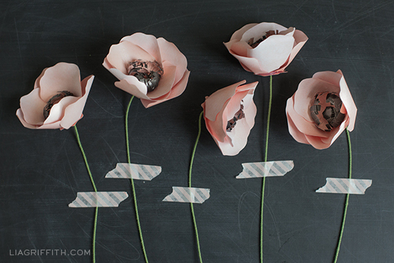 Or, go one step further, and hang homemade paper flowers.
