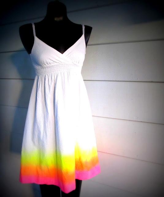 Neon Summer Sun Dress
