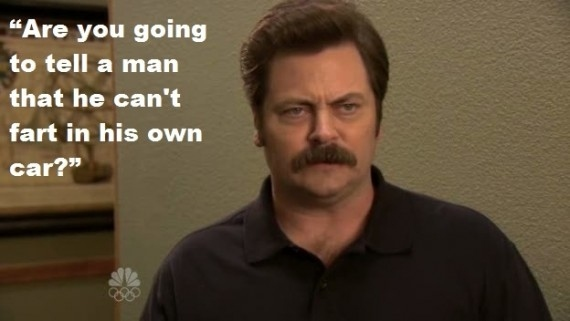 Original  Only Women Shave Beneath The Neck Funny Ron Swanson Quotes And Meme