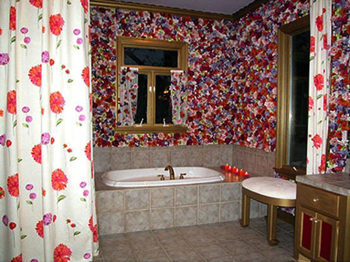 colorful living room furniture. 2  The Flower Bathroom She stapled more than 7 000 silk flowers to the wall of a bathroom It was highlighted by hideous gold paint on moldings and 5 Most WTF Room Makeovers Hildi Santo Tomas Did On Trading
