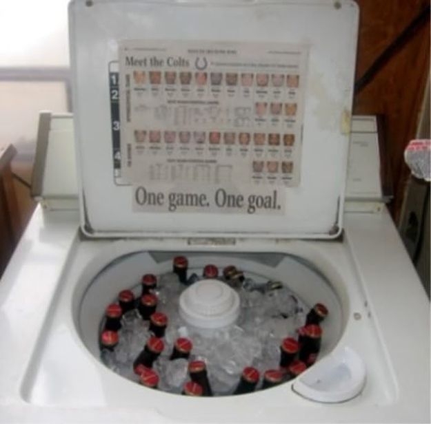 Washing Machine Beer Cooler