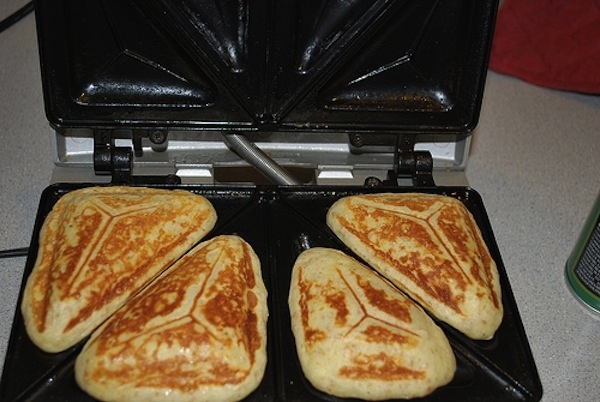 Use your sandwich maker to make fluffy pancakes.