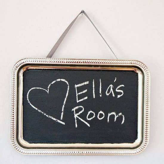 Homemade Chalkboard Paint Wall Hanging