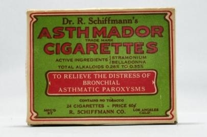 Poisonous cigarettes (to cure asthma).