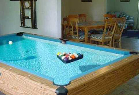 This Pool Table Is Also A Pool.