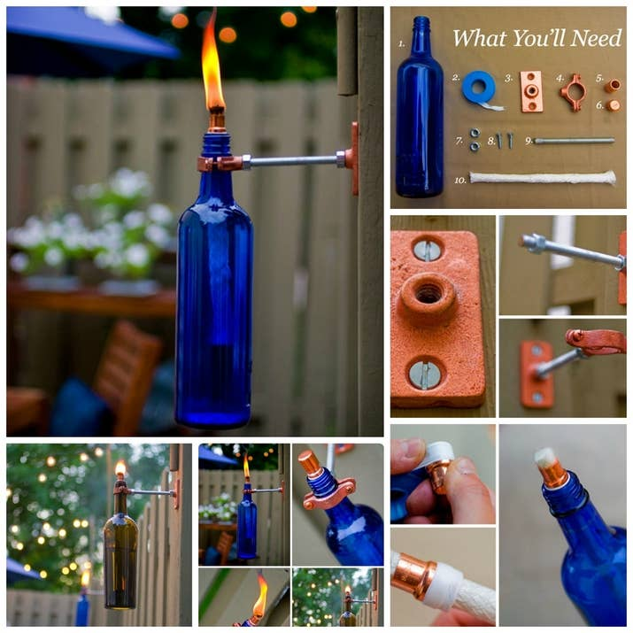 3 wine bottle torch