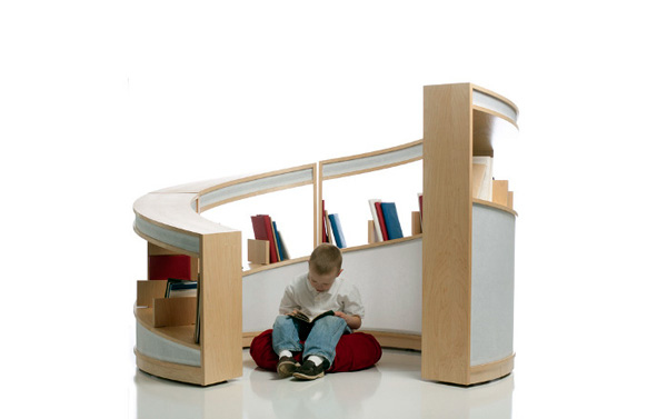 Enveloping Bookshelf