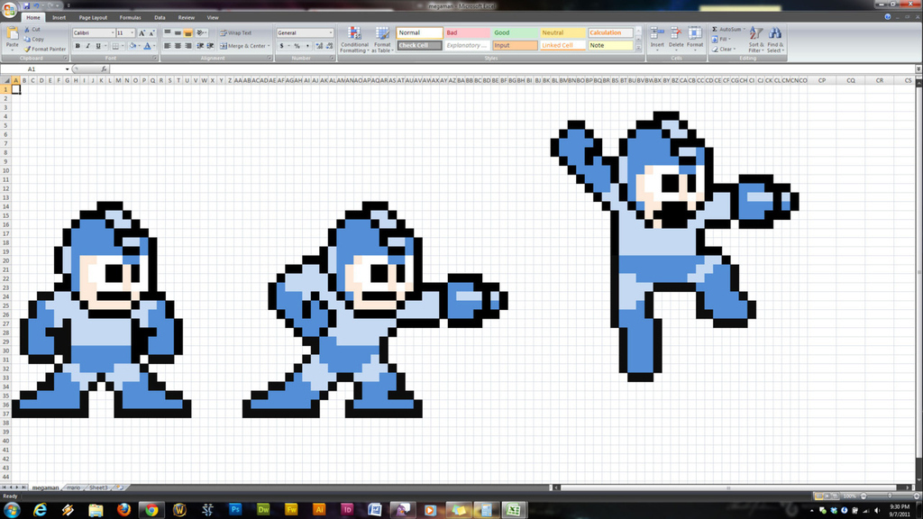 """You Will Not Believe The Video Game Characters These Heroes """"Drew"""" In Excel"""