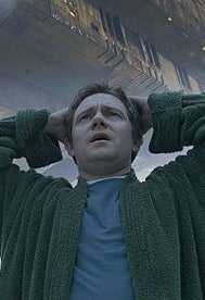 As Arthur Dent in The Hitchhiker's Guide to the Galaxy