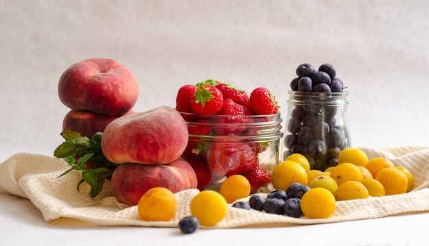 """SO MUCH FRUIT. Sometimes too much to actually eat it all before it starts to get icky — which is why fruit salads are such a great idea. You can redeem on-the-edge produce with just a little TLC so that it becomes a whole new magical concoction. But the term """"fruit salad"""" has long been abused by those who believe that tasteless honeydew + unripe cantaloupe + rock hard grapes = something worth eating. It's high time to reclaim this territory with interesting, beautiful, luscious, non-boring combinations of fruits. Here are some ideas to help you keep things fresh:"""