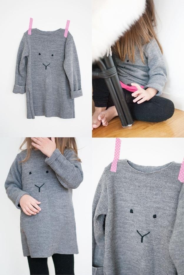 Turn the drabbest of sweatshirts into a cute li'l critterface.