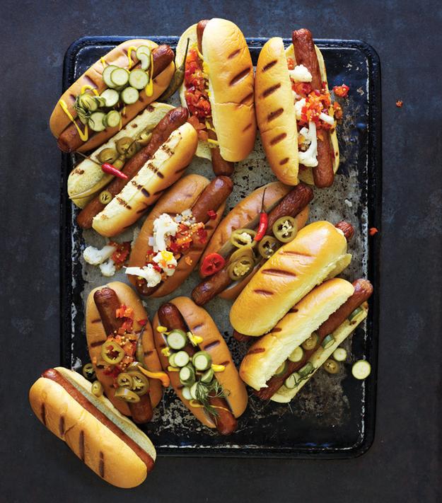 Throw a party with a DIY Hot Dog Bar.