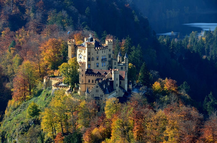 Schloss Hohenschwangau is a 19th-century palace in Germany, which receives more than 300,000 visitors per year.
