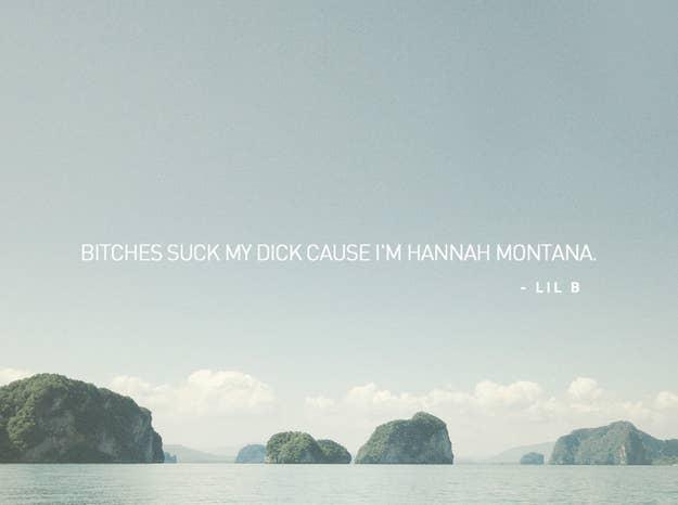 Putting Rap Lyrics On Beautiful Poetic Backgrounds Is Kind Of Funny