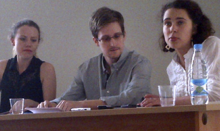 Edward Snowden's appearance on Friday at Moscow's Sheremetyevo Airport.