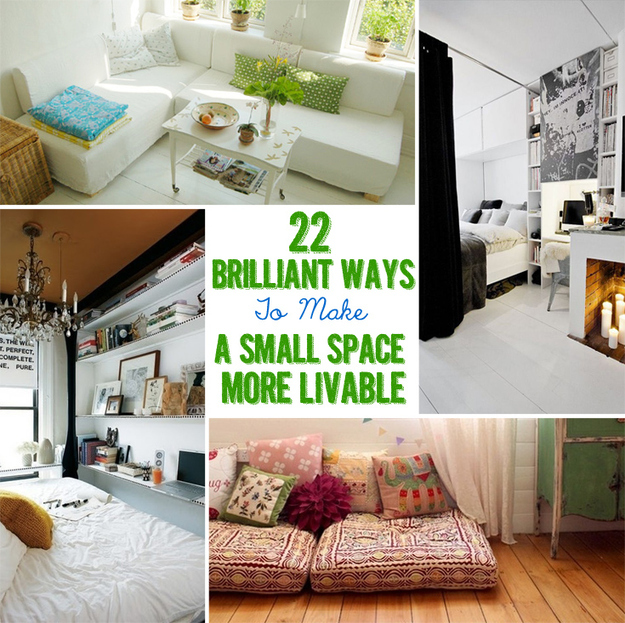 22 brilliant ideas for your tiny apartment for Decorating ideas for very small apartments
