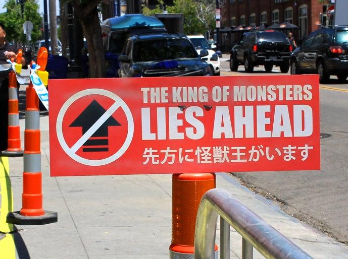 Eeek! The king of monsters!