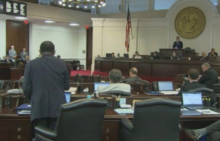 The North Carolina Senate debates a bill that includes restrictive abortion amendments on Tuesday evening.