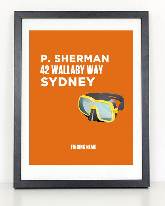 Finding Nemo Print By ColiseumGraphics, $12. Part 41