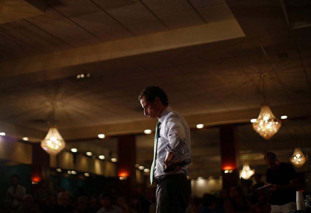Anthony Weiner Flees The Press Amid Flap Over Spokeswoman