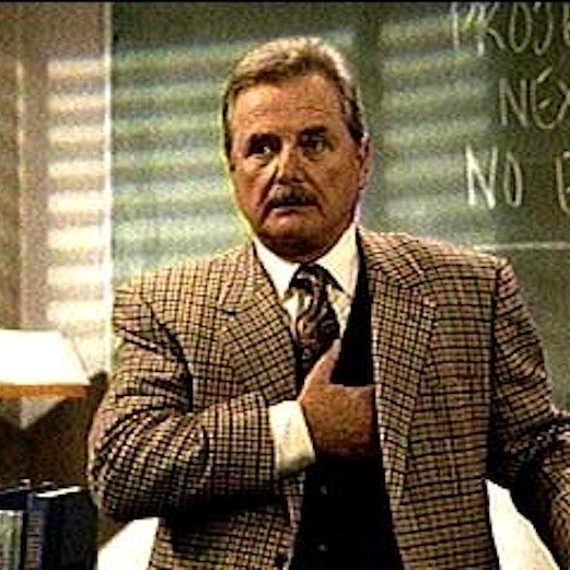 """If you want to spice things up, go for a bold pattern choice. See this unapologetically plaid blazer? It says """"Mr. Feeny means business, but he's also here to party."""""""