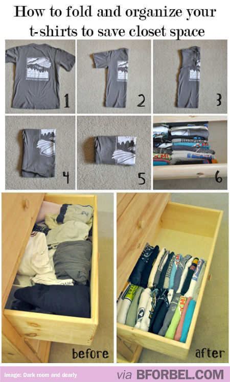 File your clothes to save space.