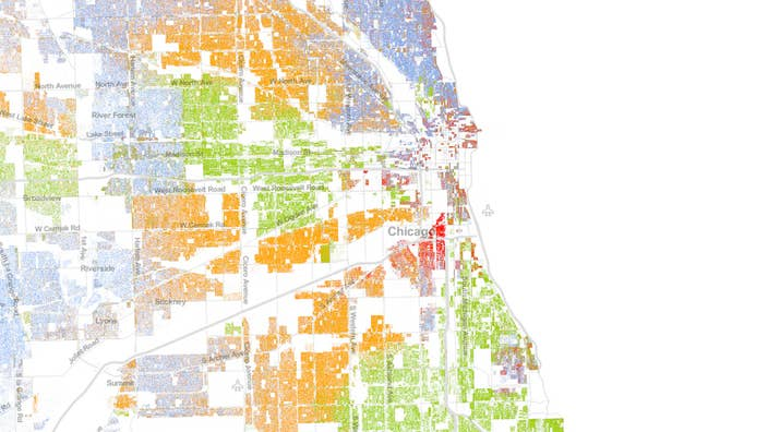 This Map Of Race In America Is Pretty Freaking Awesome - Map of segregation in us