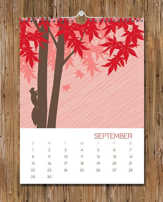 Calendar by Modern Printed Matter.