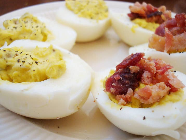 Peel The Eggs Take Yolks Out Mix With Mayo Mustard Relish
