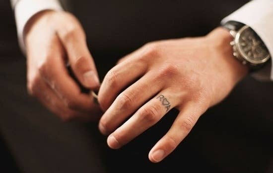 Awesome Wedding Band Tattoos