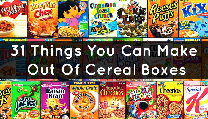 31 things you can make out of cereal boxes share on facebook share ccuart Images